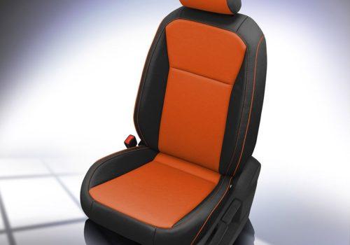 VW Tiguan Orange and Black Leather Seats