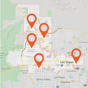 Katzkin Auto Upholstery Las Vegas Map