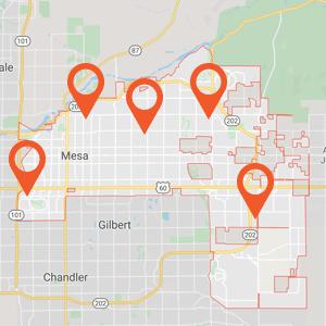 Katzkin Auto Upholstery Mesa Map