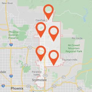Katzkin Auto Upholstery Scottsdale Map
