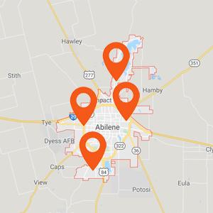 Katzkin Auto Upholster Abilene TX Map