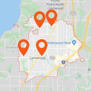 Katzkin Auto Upholstery Lynnwood WA Map