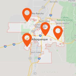 Katzkin Auto Upholstery Albuquerque Map