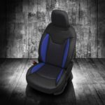 Jeep Compass Black and Blue Leather Seats