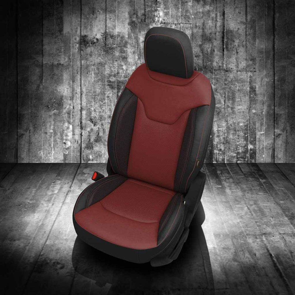 Jeep Compass Red and Black Leather Seats