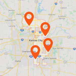 Katzkin Auto Uphlstery Kansas City Map