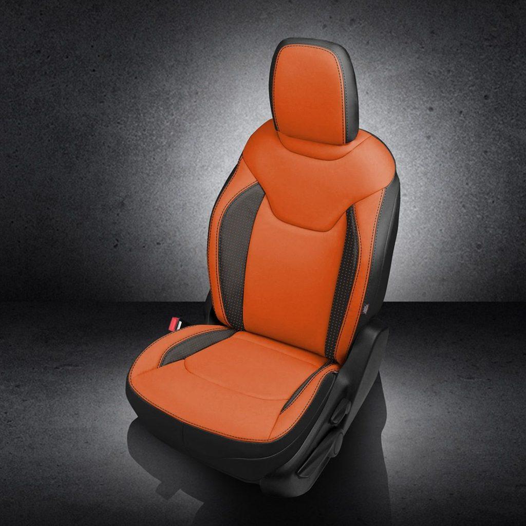 Jeep Renegade Orange Leather Seats