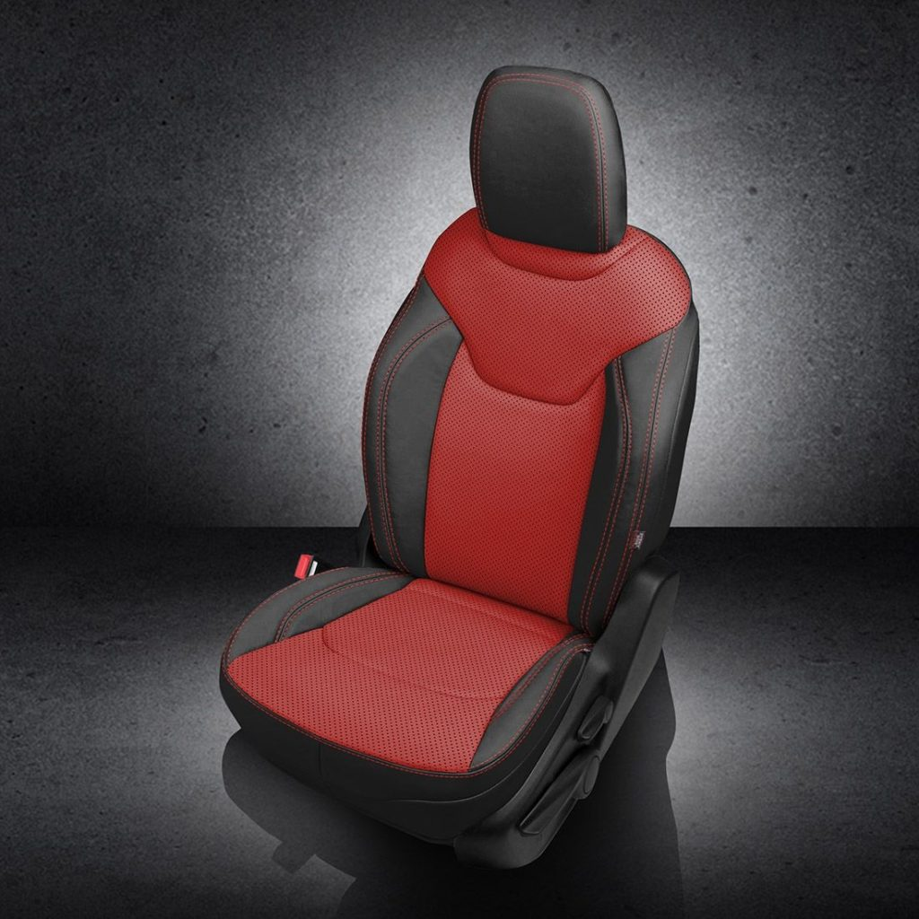 Jeep Renegade Red Leather Seats
