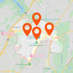 Auto Upholstery Laurel MD Map