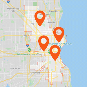Car Upholstery Milwaukee Map