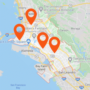 Oakland Auto Upholstery Map