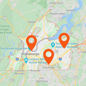 Katzkin Car Upholstery Chattanooga Map