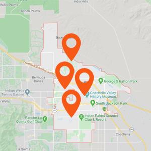 Katzkin Auto Upholstery Indio CA Map