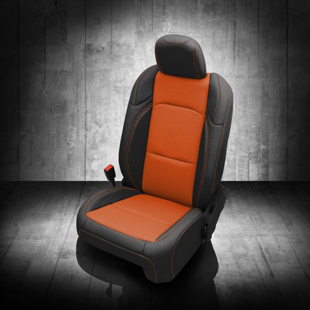 Orange and Black Jeep Gladiator Seat Covers