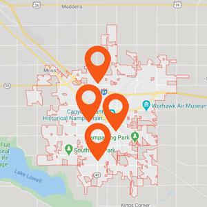 Auto Upholstery Nampa Idaho Map