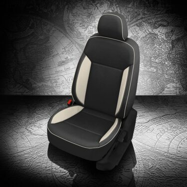 VW Atlas Black and White Leather Seats
