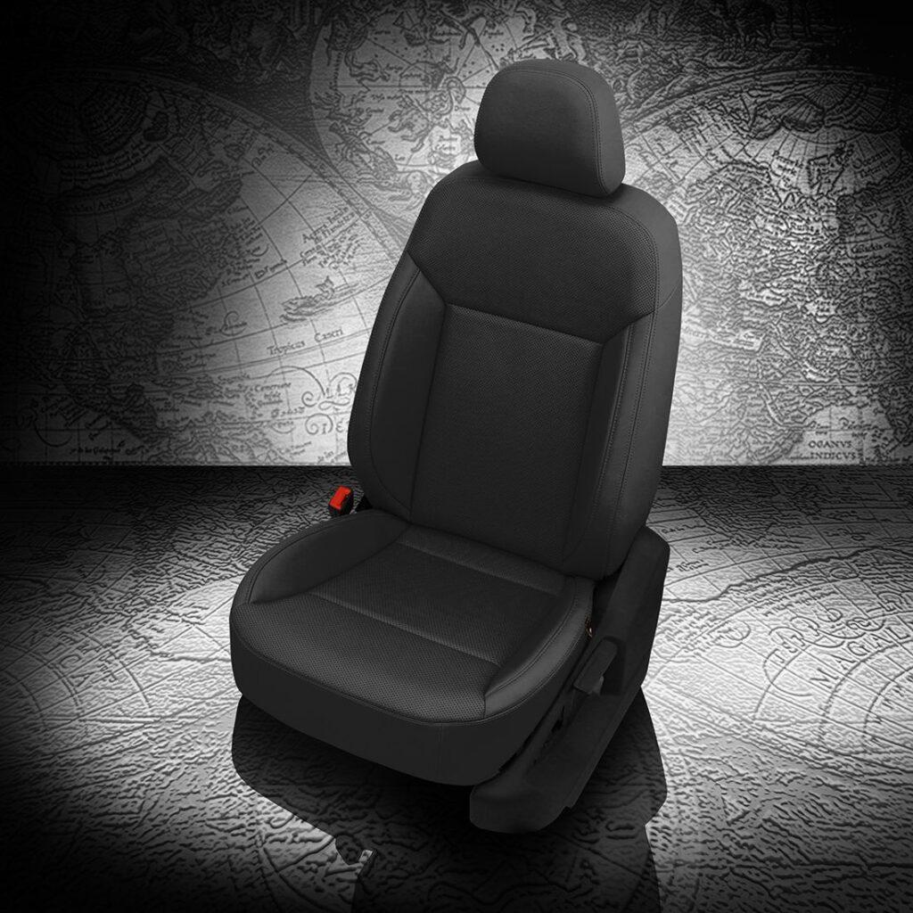 VW Atlas Black Leather Seats