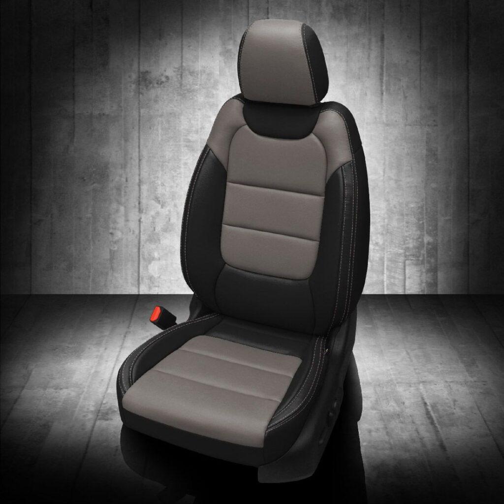Chevy Trailblazer Gray and Black Leather Seats