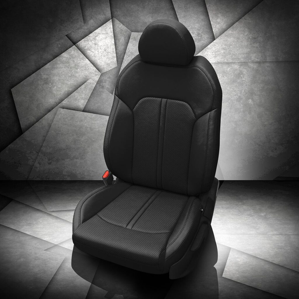Kia K5 Black Leather Seats