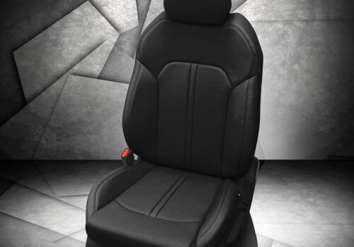 Kia K5 Black Leather Seats