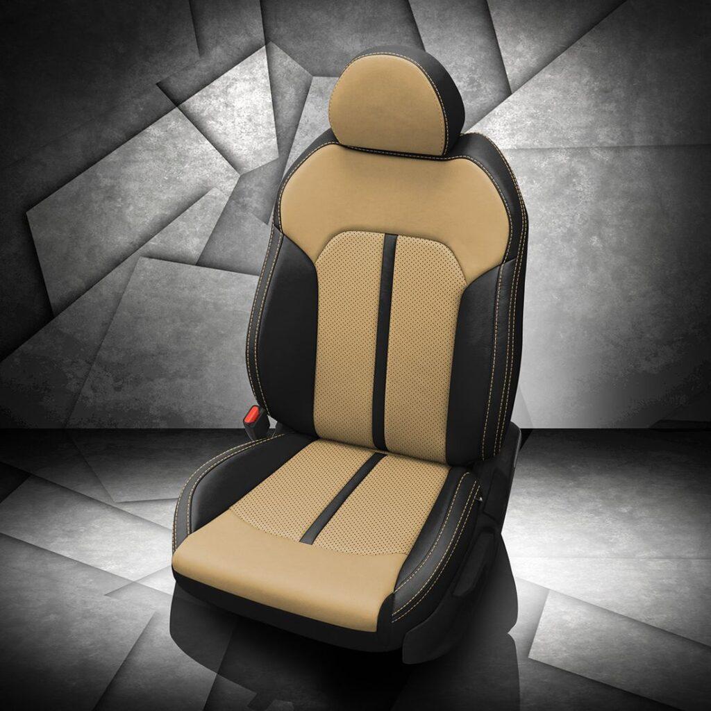 Kia K5 Black and Tan Leather Seats