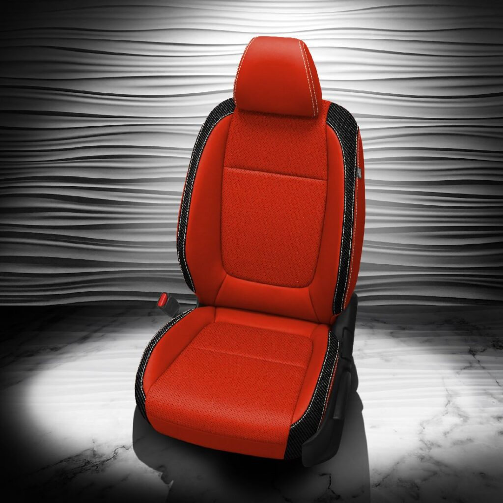 Kia Seltos Red and Black Leather Seats