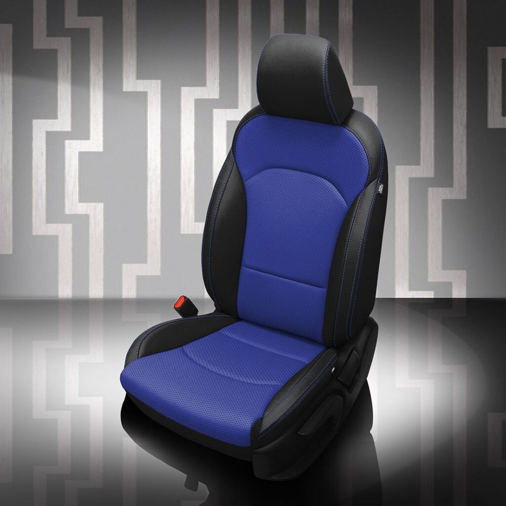 Blue Kia Forte Leather Seats