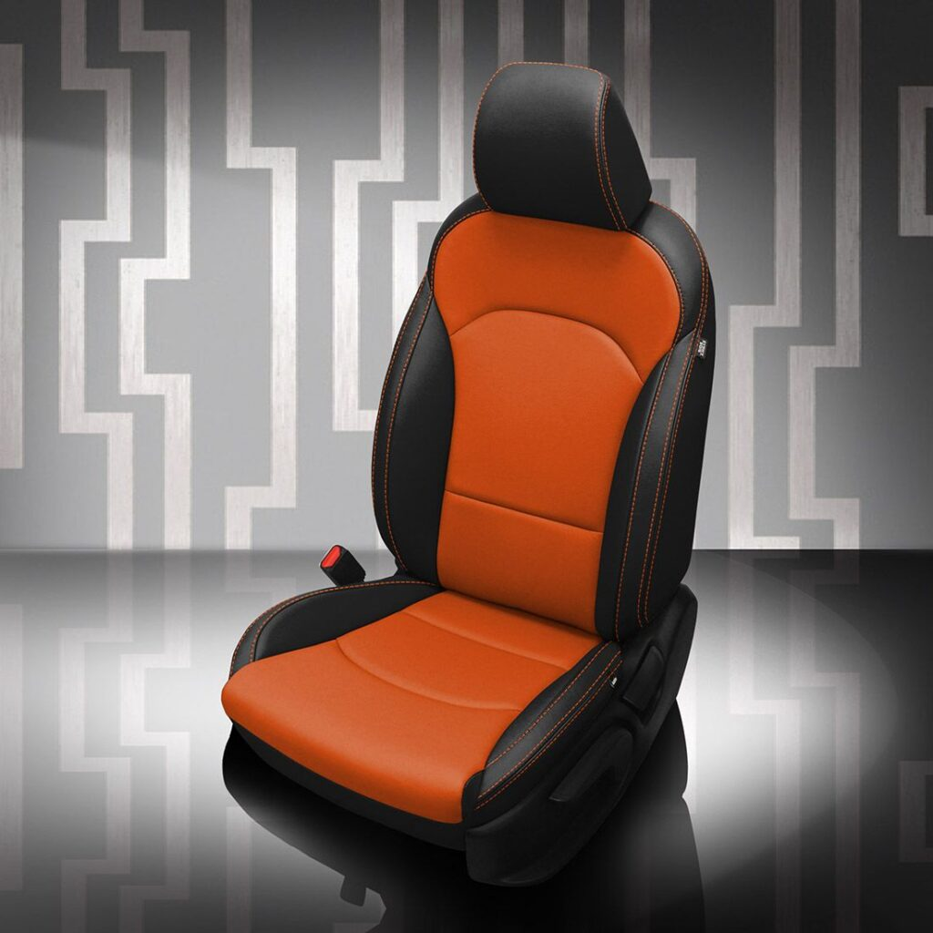 Orange Kia Forte Leather Seats