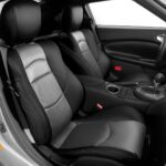 Nissan 370Z Black and Silver Leather Seat Covers