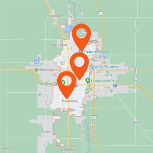 Katzkin Auto Upholstery Fargo ND Map
