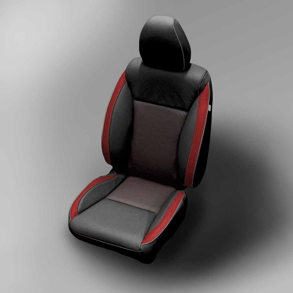 Red and Black Honda Fit Leather Seats
