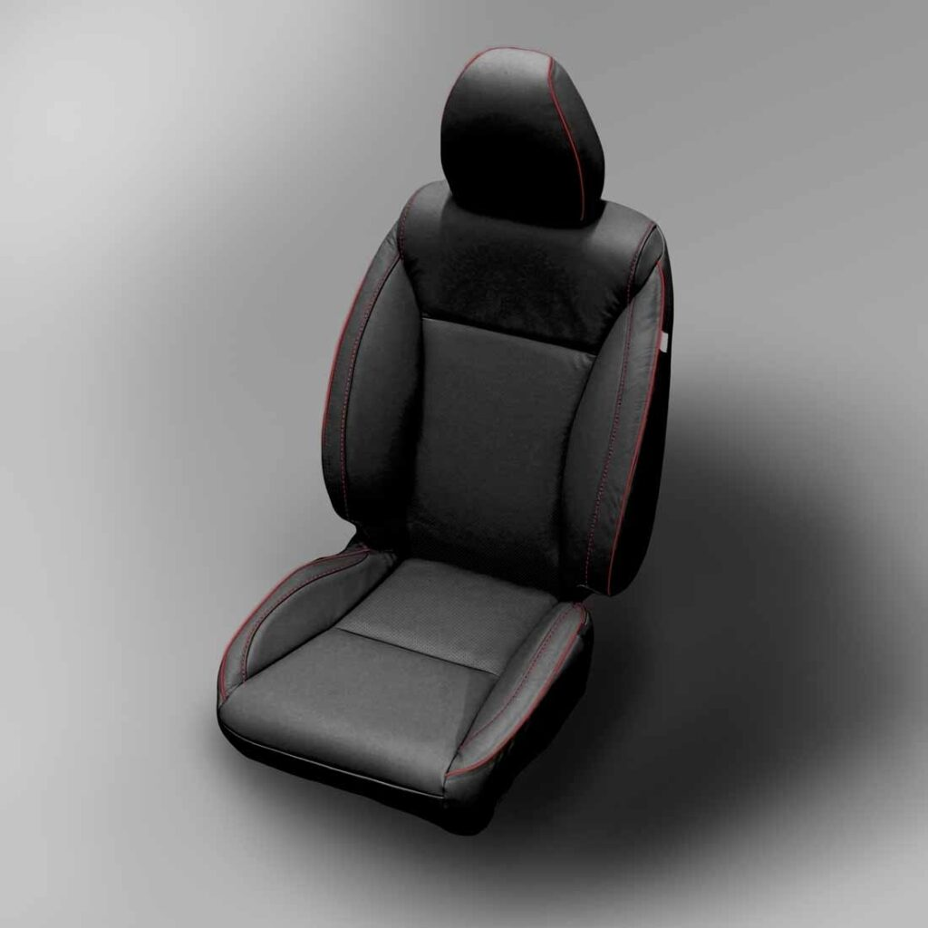 Red Trimmed Honda Fit Leather Seats