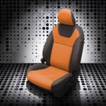 Orange and Black Nissan Kicks Leather Seats