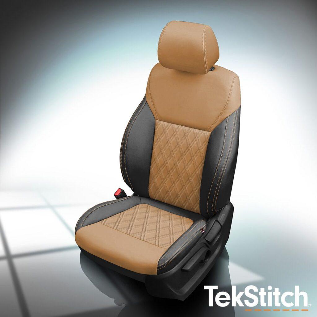 Brown and Black Kia Sorento Leather Seats