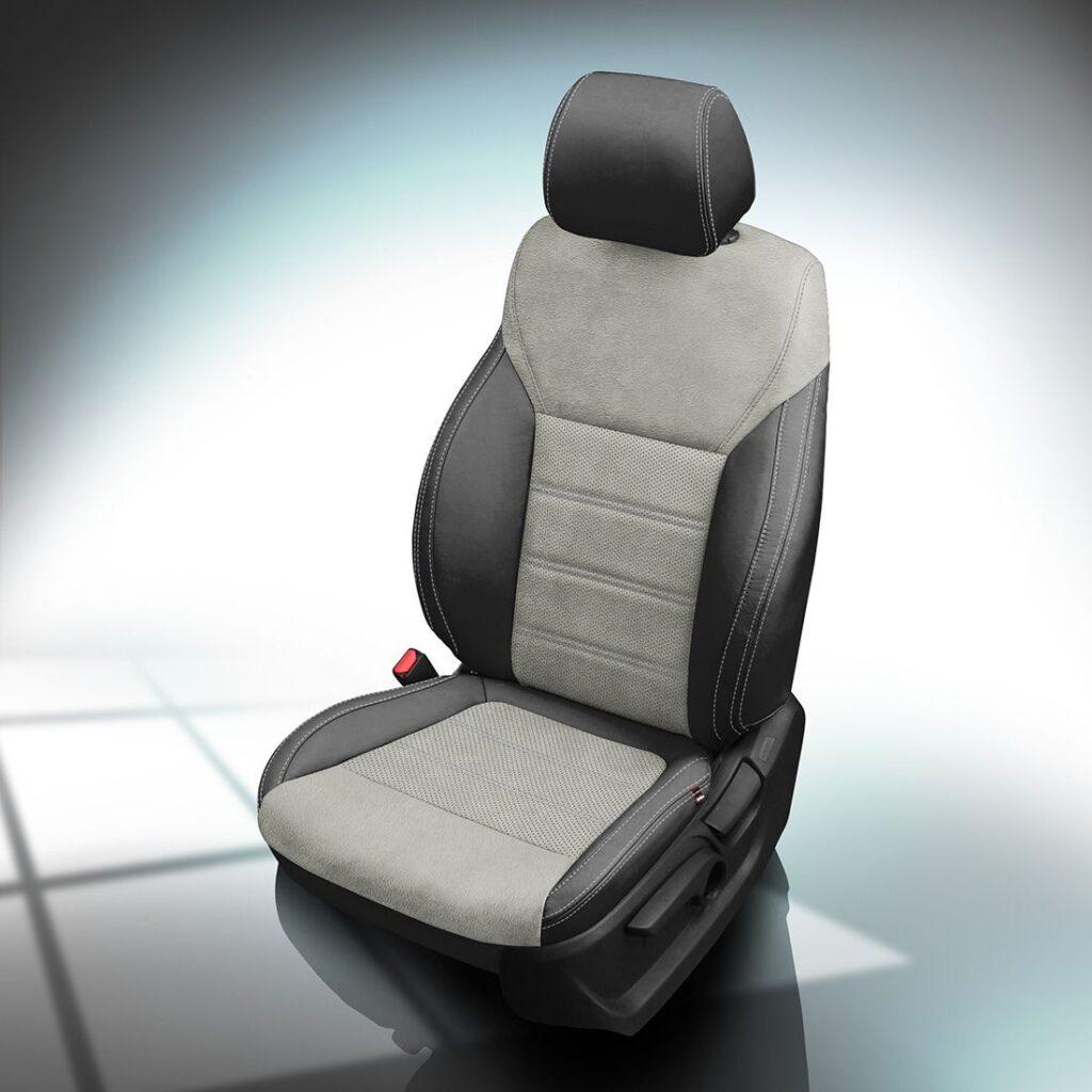 Gray and Black Kia Sorento Leather Seats