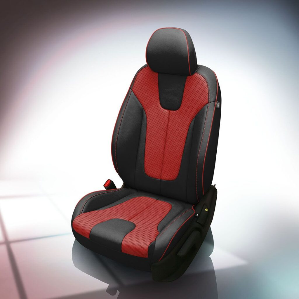 Red and Black Hyundai Veloster Leather Seats