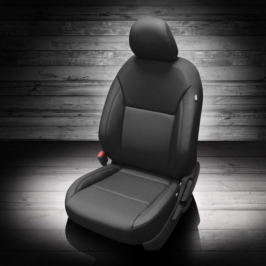 Black Nissan Versa Leather Seats