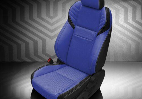Blue Subaru WRX Leather Seats