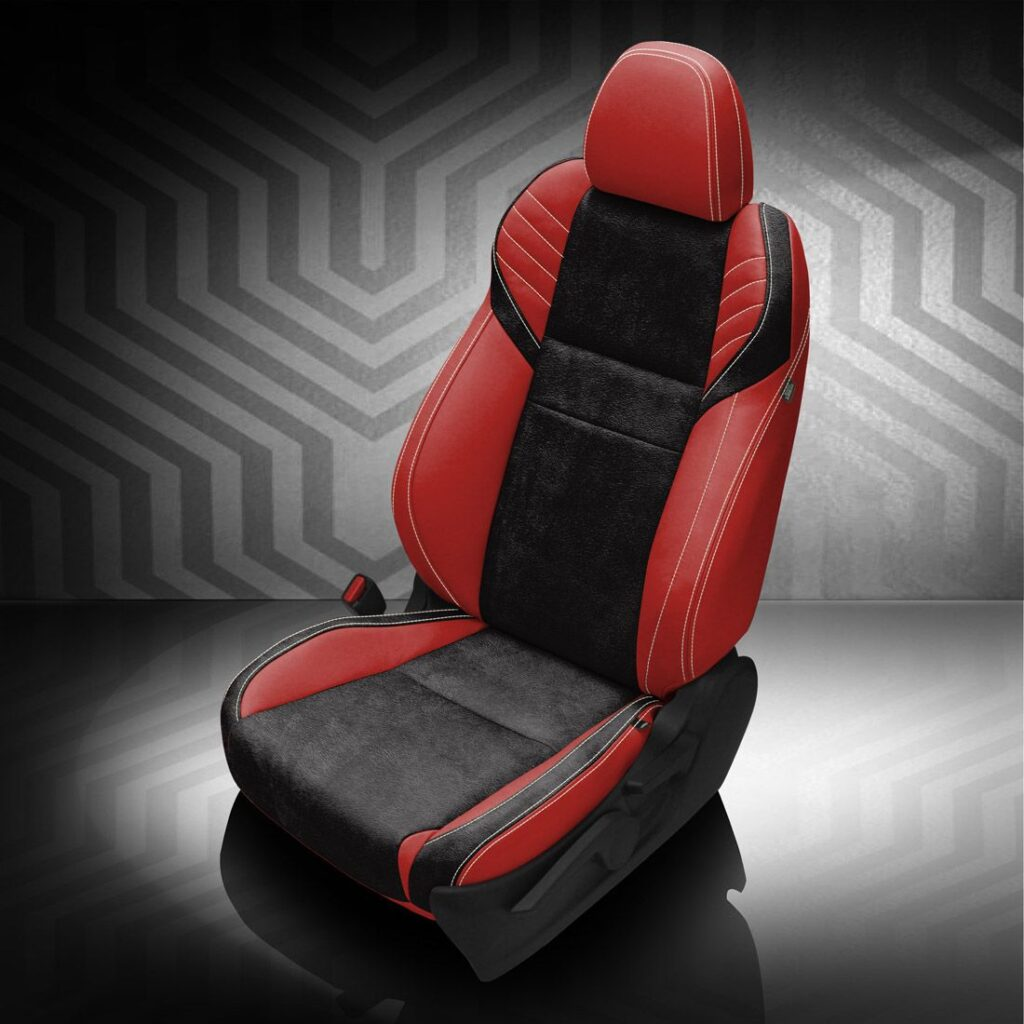 Red and Black Subaru WRX Leather Seats
