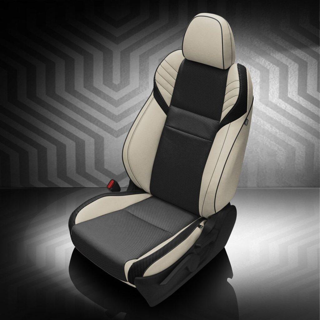 Black and White Subaru WRX Leather Seats