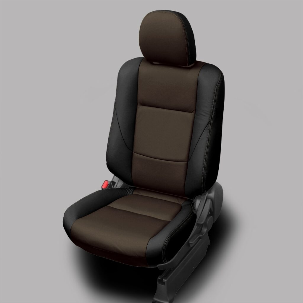 Brown and Black Mitsubishi Outlander Leather Seats
