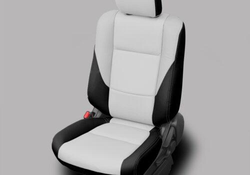 White and Black Mitsubishi Outlander Leather Seats