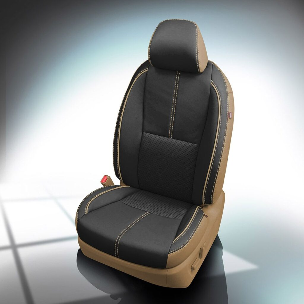 Black and Beige Kia Sedona Leather Seats