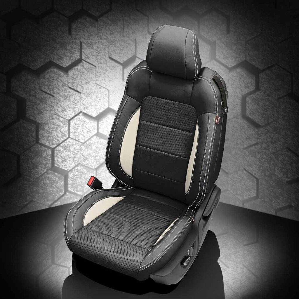 Ford Mustang Black and White Leather Seats