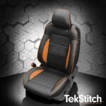 Ford Mustang Black and Orange Leather Seats