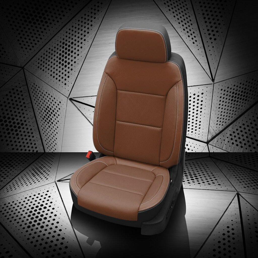 Chevy Silverado Brown Leather Seats