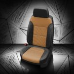 Silverado Two-Tone Tan Leather Seats