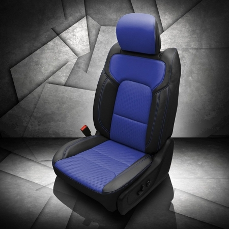 Ram 1500 Blue and Black Leather Seat