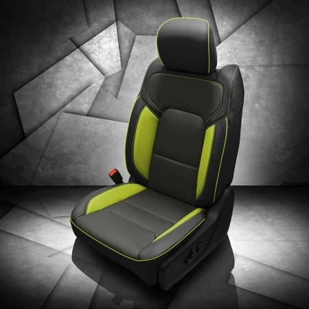 Ram 1500 Lime Green Leather Seat