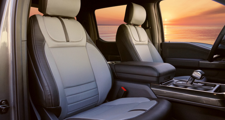 2021 Gray and Charcoal Leather Seats